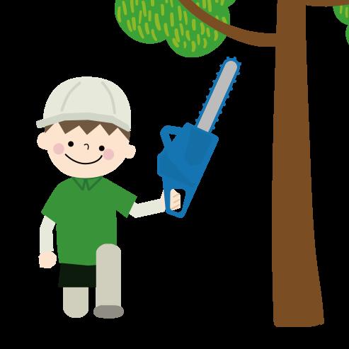 お庭の伐採