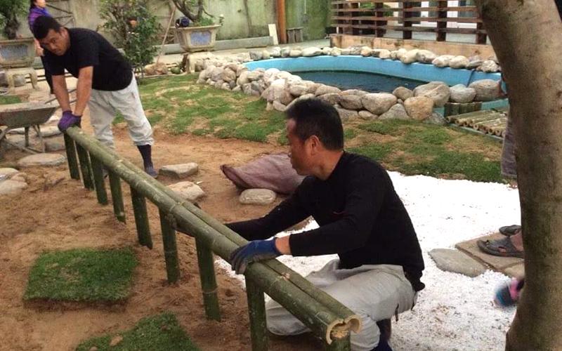 ベトナム、ビンディン省でのお庭づくり